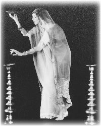 RUTH St. DENIS FIRST INTRODUCED HER INTERPRETATION OF A CYCLE OF ANCIENT FORMS OF SPIRITUAL EXPRESSION IN AN OFFERING SHE TITLED 'A PROGRAM OF HINDU DANCE,' IN 1906.